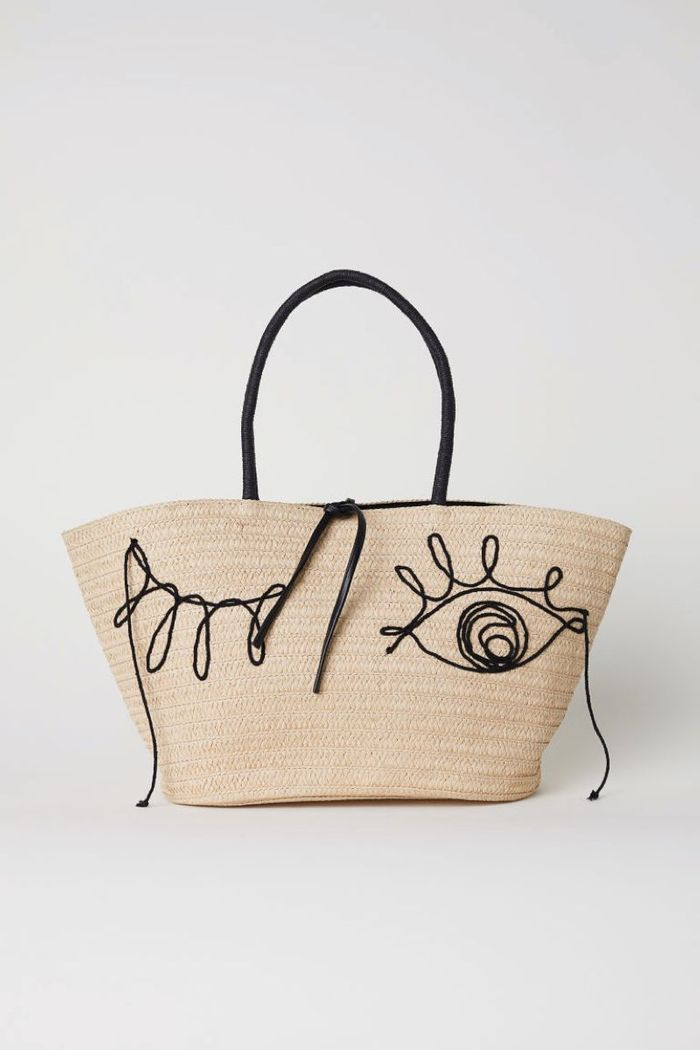 Sac broderie yeux H&M