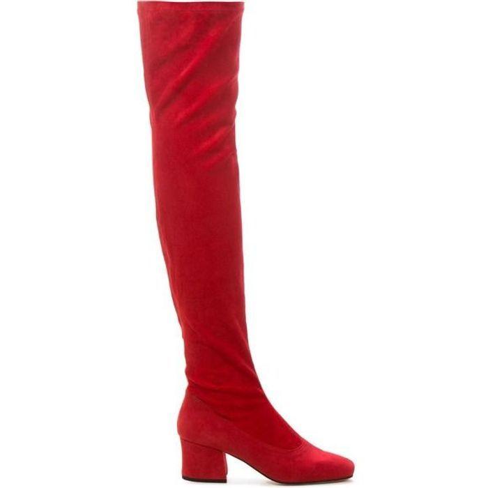 Bottes rouges cuissardes Dorateymur