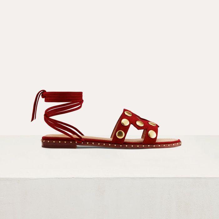 Sandales plates Maje