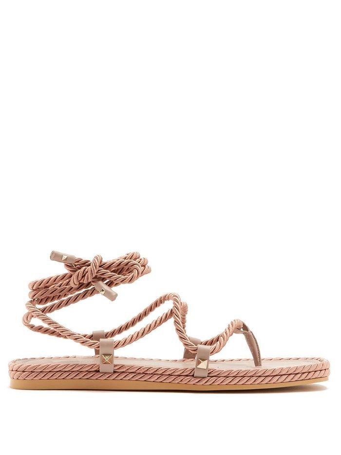 Sandales plates Valentino sur Matchesfashion