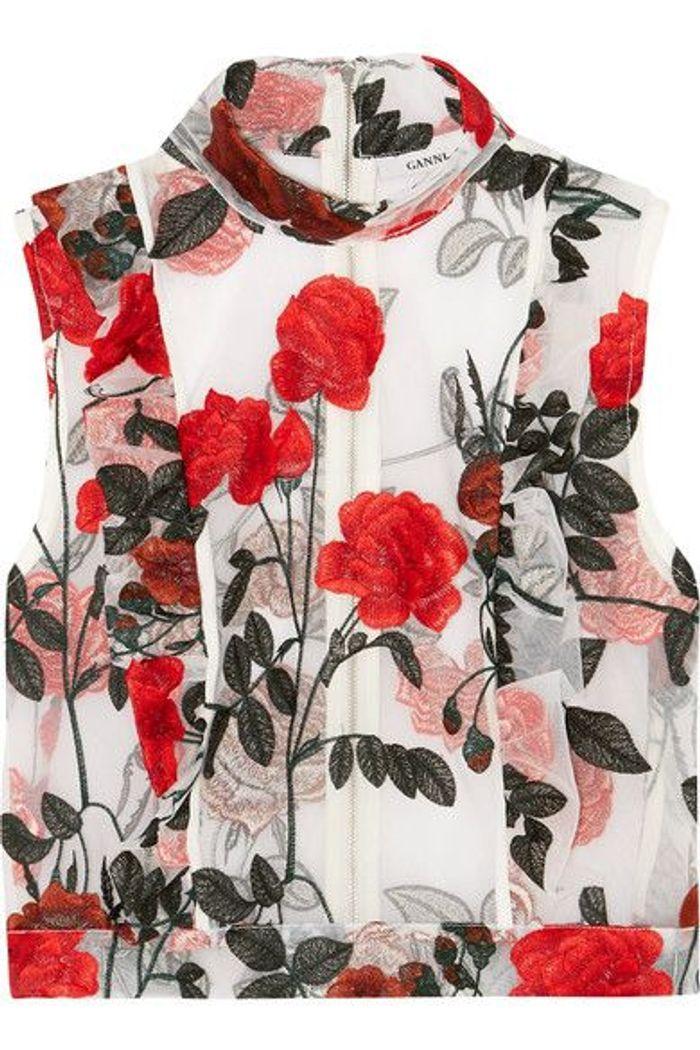 top imprim fleurs ganni imprim fleurs nos 30 belles pi ces pour le printemps elle. Black Bedroom Furniture Sets. Home Design Ideas