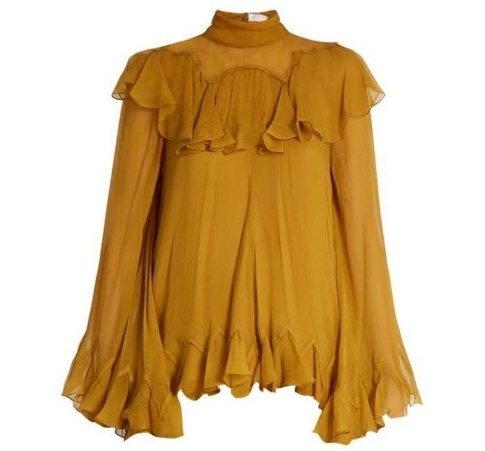 Blouse jaune safran Chloé