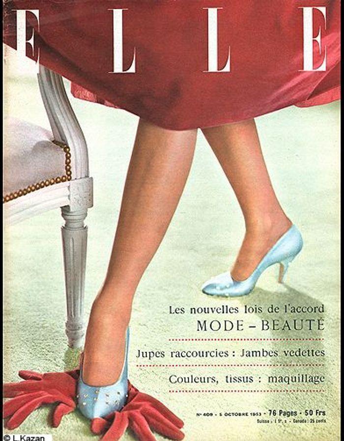 couverture elle magazine 1953 gant les plus belles couvertures de elle c l brent la journ e. Black Bedroom Furniture Sets. Home Design Ideas