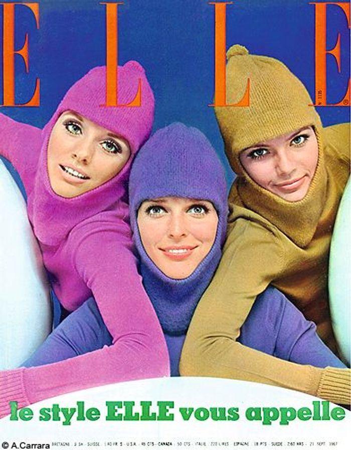 couverture elle magazine 1967 cagoule les plus belles couvertures de elle elle. Black Bedroom Furniture Sets. Home Design Ideas