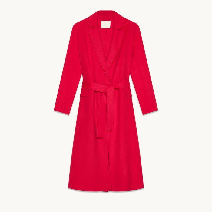Manteau en laine mélangée Maje