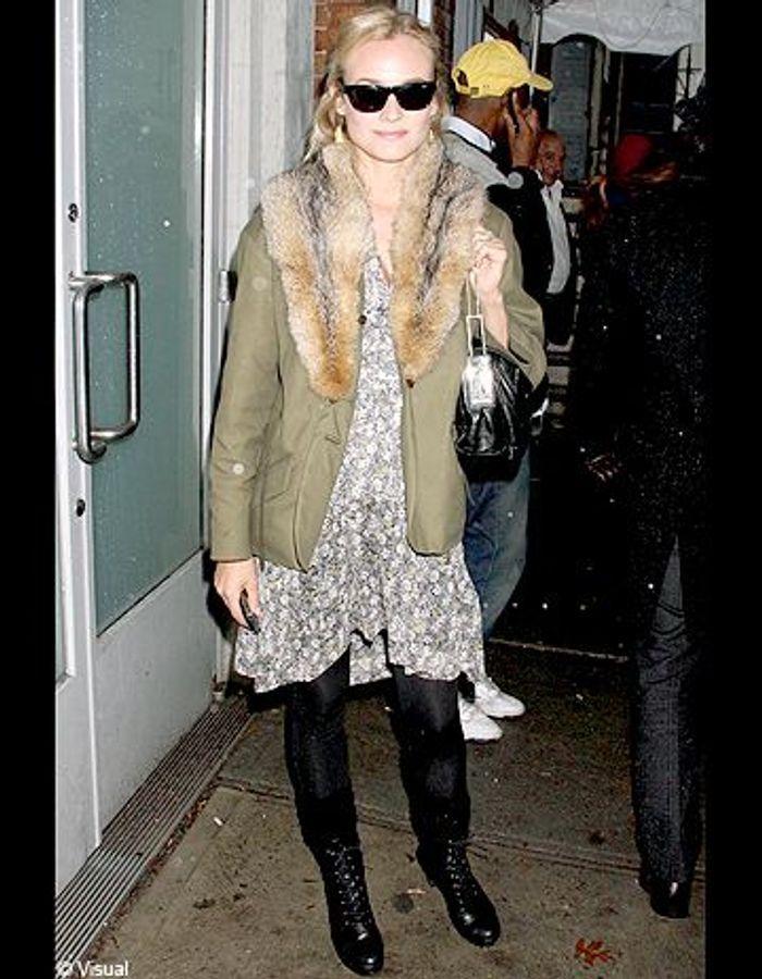On copie le look casual trendy de Diane Kruger