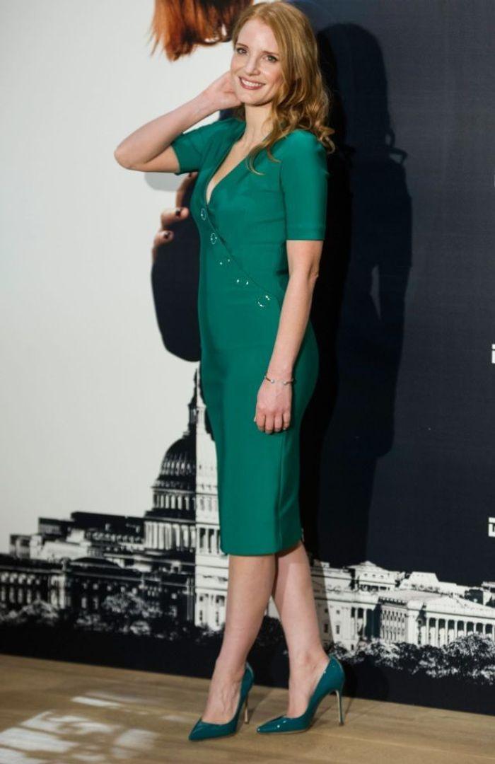 Jessica Chastain en Sergio Rossi