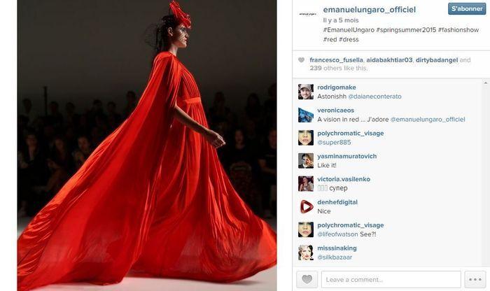 Emanuel ungaro les 101 comptes instagram suivre pendant la fashion week elle - Qui suivre sur instagram ...