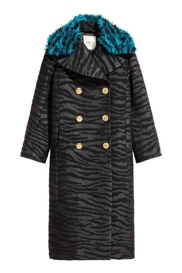 manteau femme h m x kenzo 40 manteaux pour passer l hiver au chaud elle. Black Bedroom Furniture Sets. Home Design Ideas