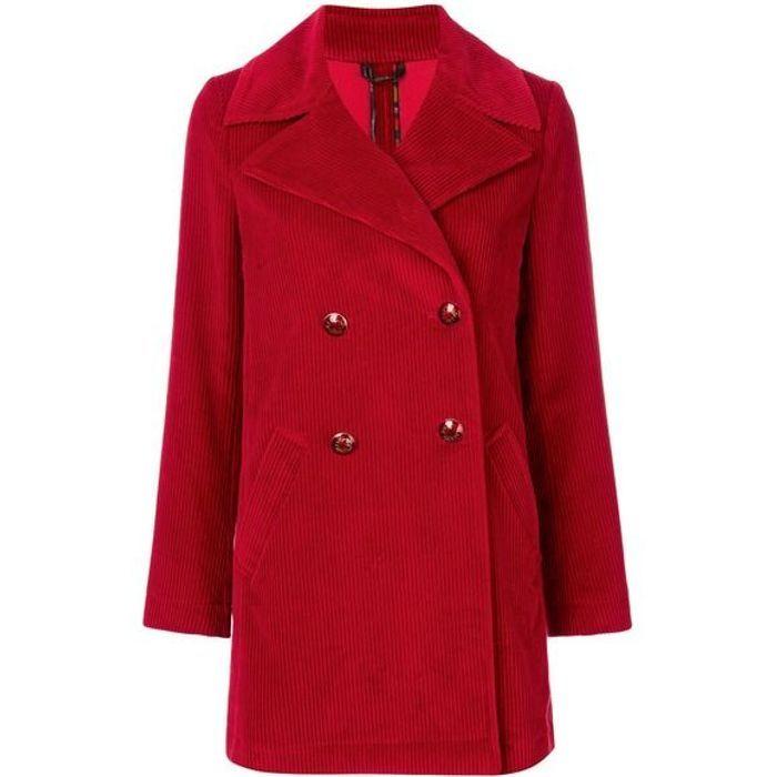 Manteau rouge en velours Etro