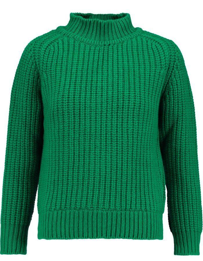 pull en laine vert maison kitsune 30 pulls en laine pour tre au chaud tout l hiver elle. Black Bedroom Furniture Sets. Home Design Ideas