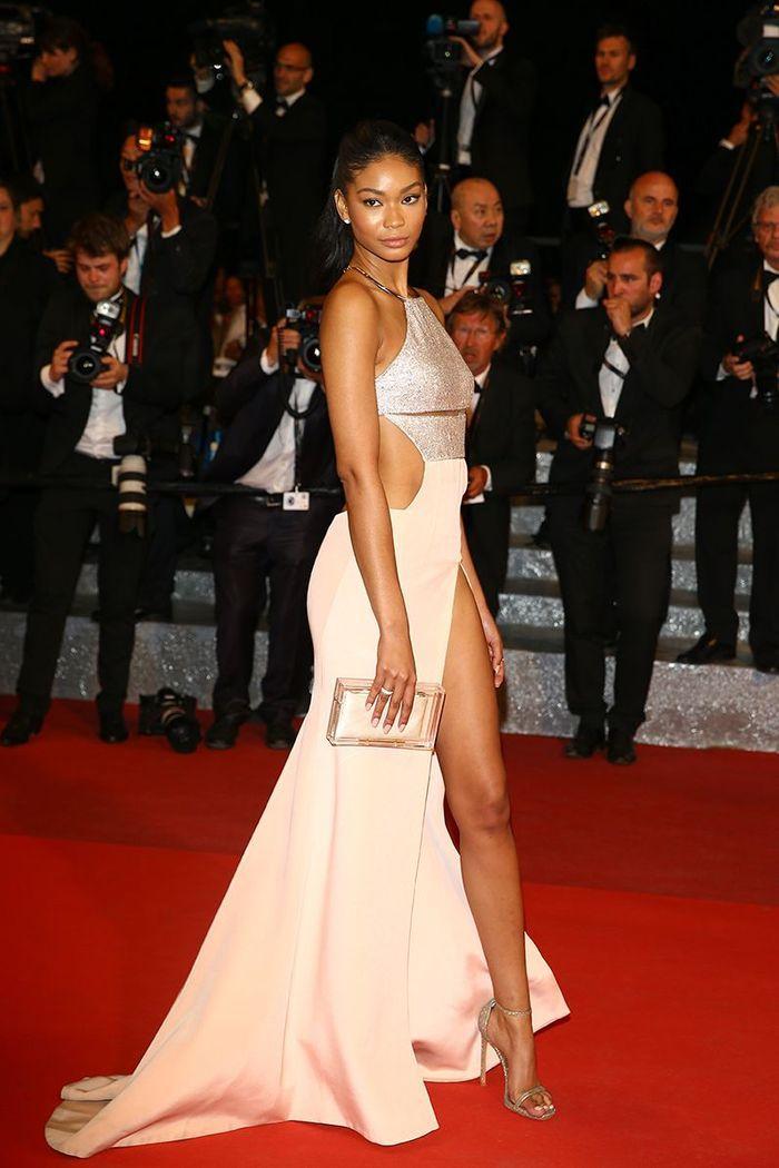 La robe fendue de Chanel Iman