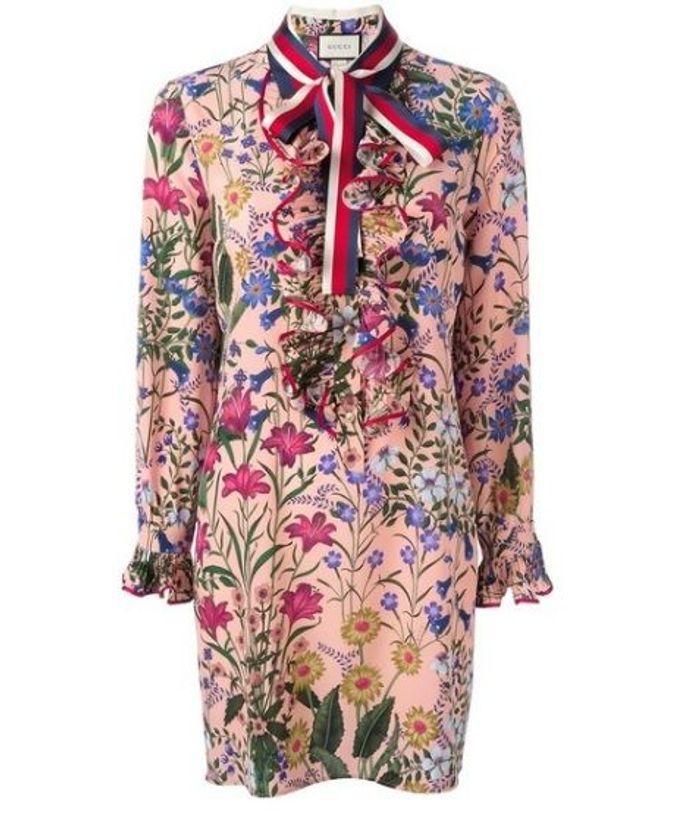 Robe fleurie Gucci