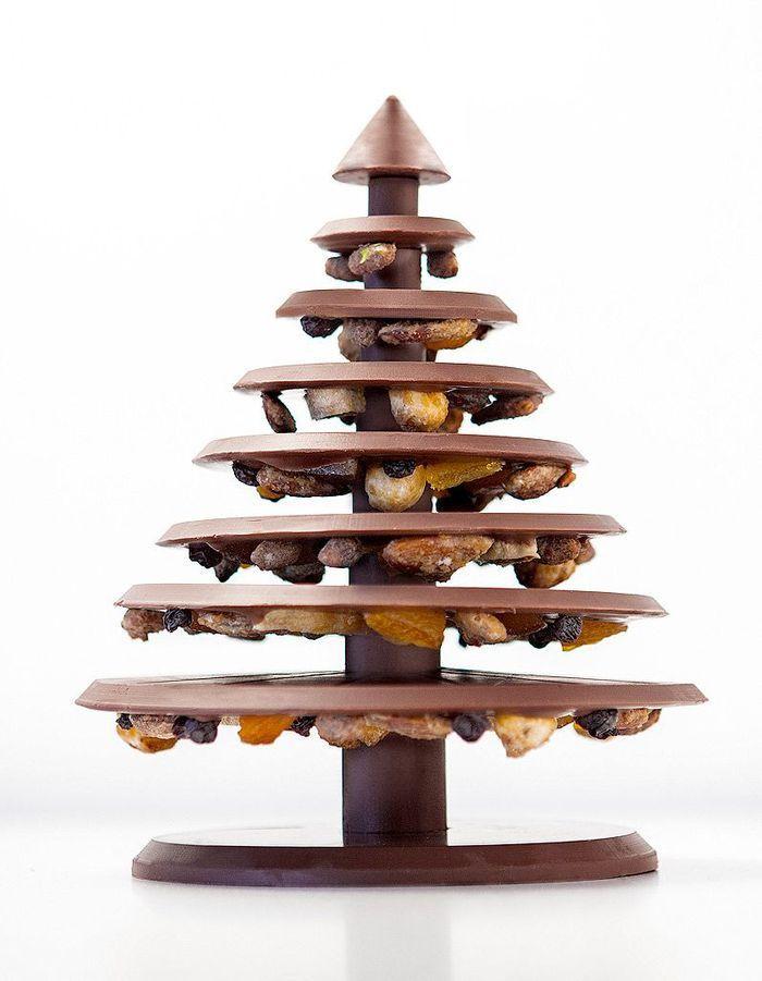 L'arbre de Noël au chocolat noir ou lait, La Manufacture de Chocolat Alain Ducasse