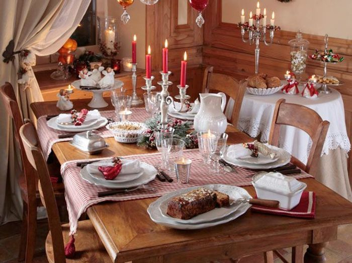 40 jolies tables de f te elle for Deco de table pour noel