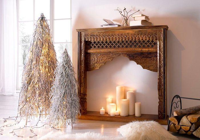 Faux sapin de Noël festif