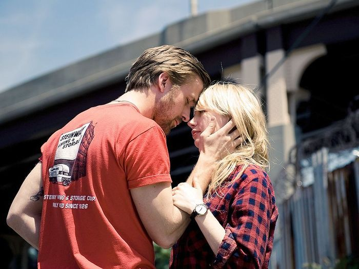 Avec Michelle Williams dans « Blue Valentine » de Derek Cianfrance (2010).