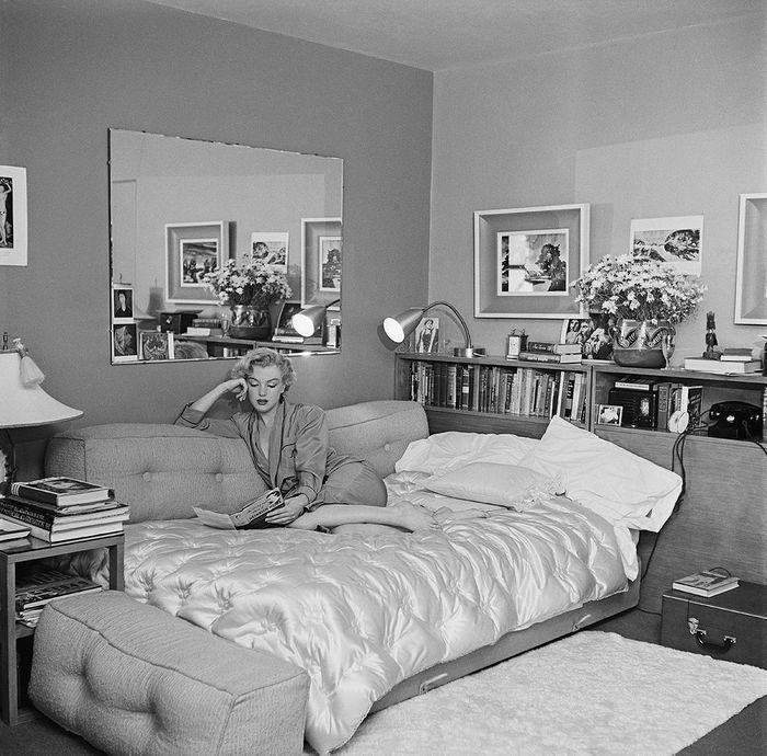 marilyn monroe maisons de stars les photos r tro des stars dans leur intimit elle. Black Bedroom Furniture Sets. Home Design Ideas