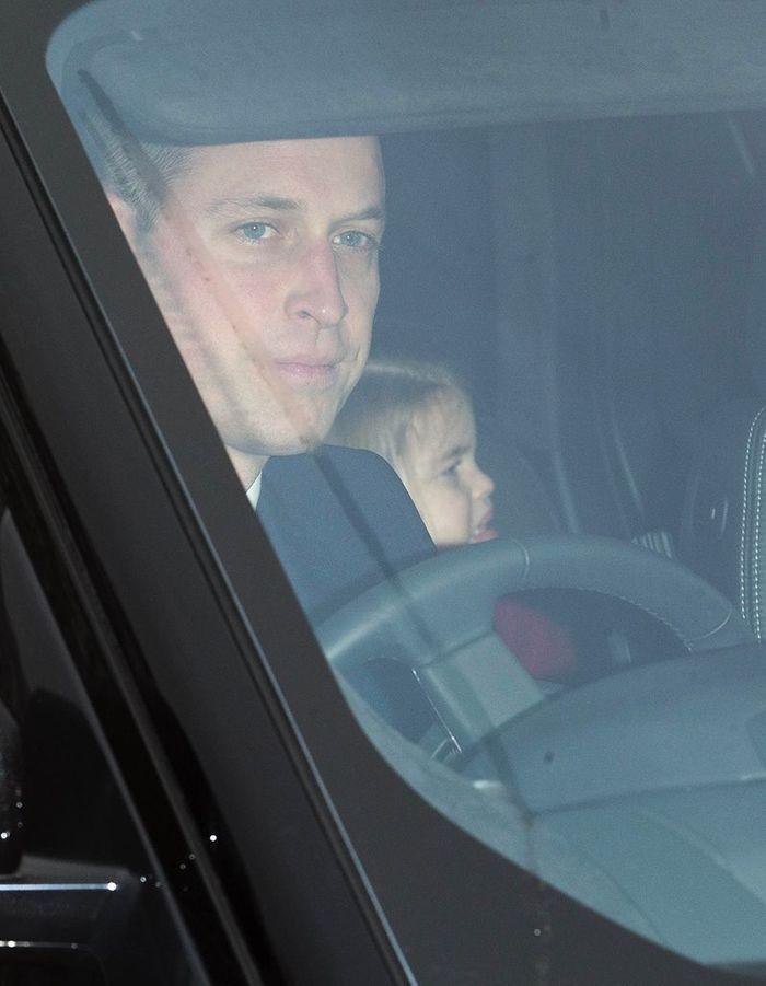 Le prince William et la princesse Charlotte