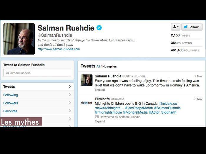 Les mythes salman rushdie qui suivre sur twitter elle - Qui suivre sur instagram ...