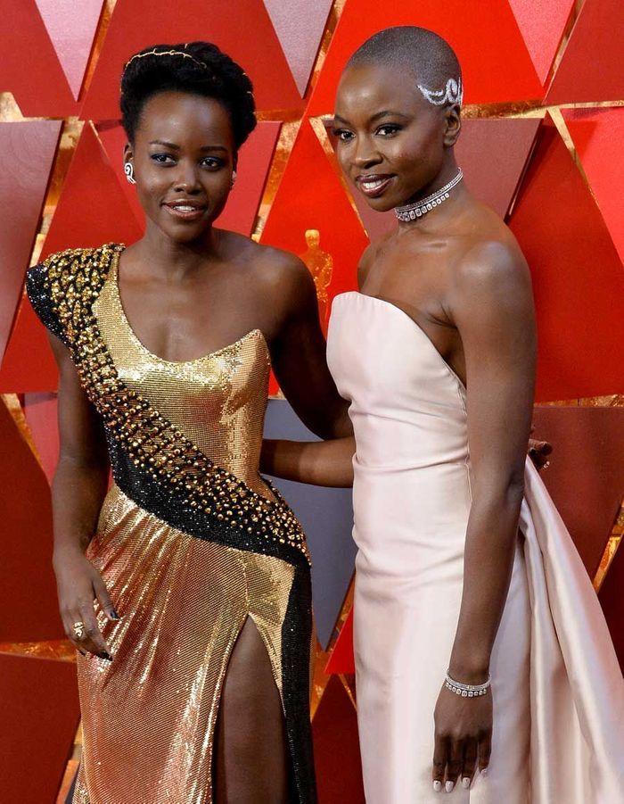 Lupita Nyong'o et Danai Gurira en Gabriela Hearst