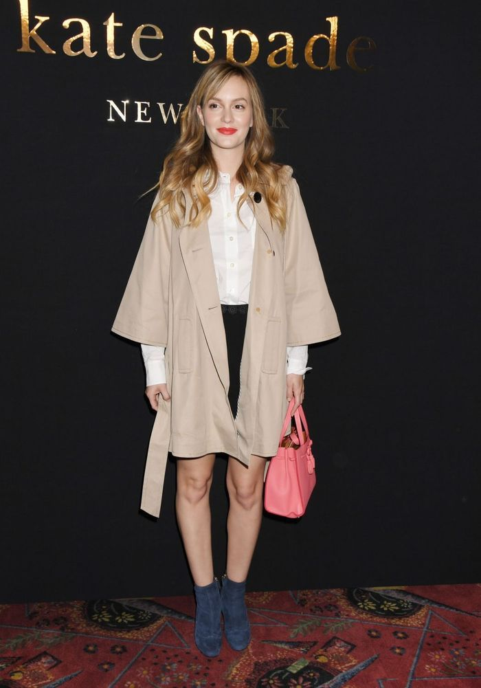 Leighton Meester Au D Fil Kate Spade Lady Gaga Alexa Chung Fashion Week De New York Les