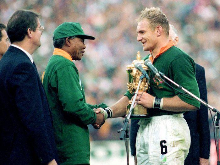 L afrique du sud remporte la coupe du monde de rugby - Coupe du monde rugby afrique du sud 1994 ...