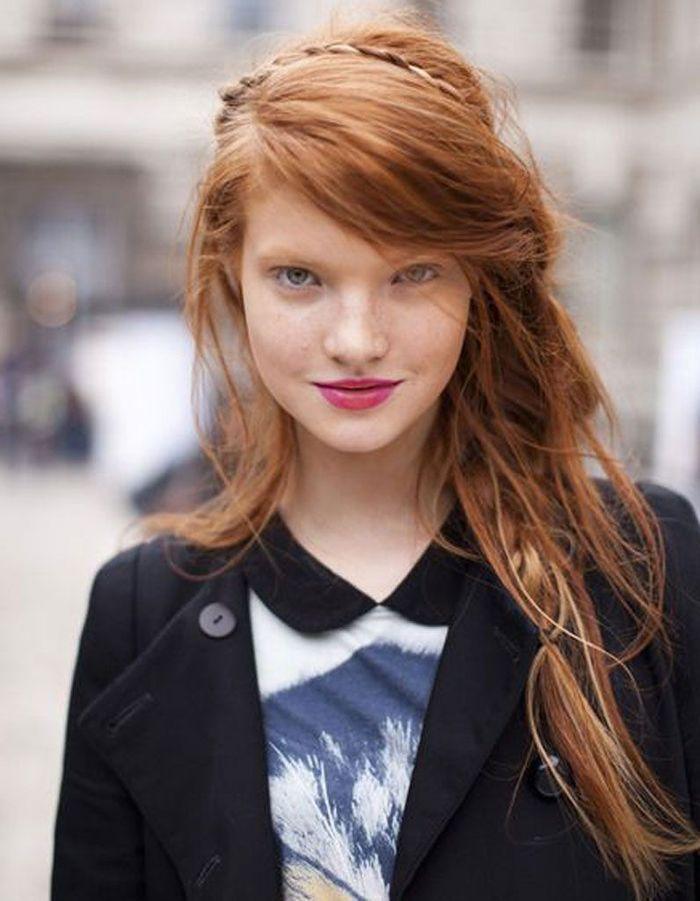 Coupe visage rond du00e9gradu00e9 - 40 coiffures canon pour les visages ronds - Elle