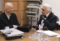 Karl Lagerfeld offre ses services à Shu Uemura