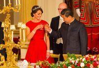 Kate Middleton porte le diadème pour son premier dîner d'Etat