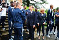 Rencontre au sommet entre les Bleus et les Macron avant la Coupe du monde !