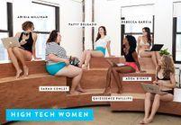 Des créatrices de start-up posent pour une marque de lingerie