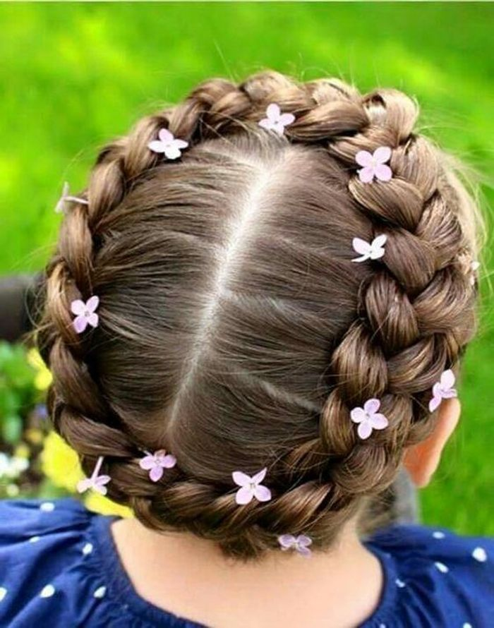 souvent Coiffure petite fille pour un mariage - 40 coiffures de petite  DC59