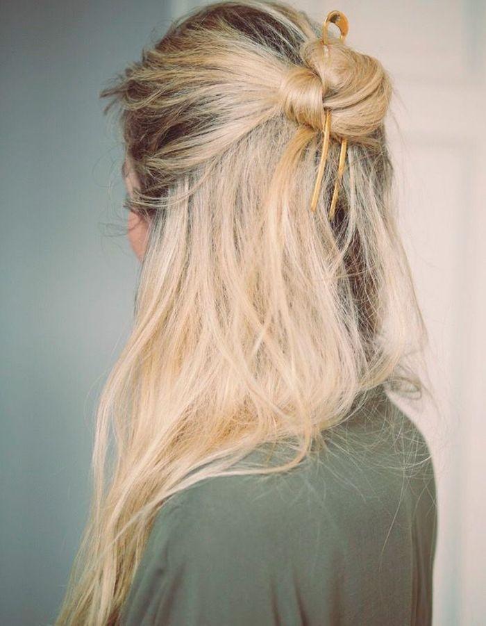 Coiffure simple blonde