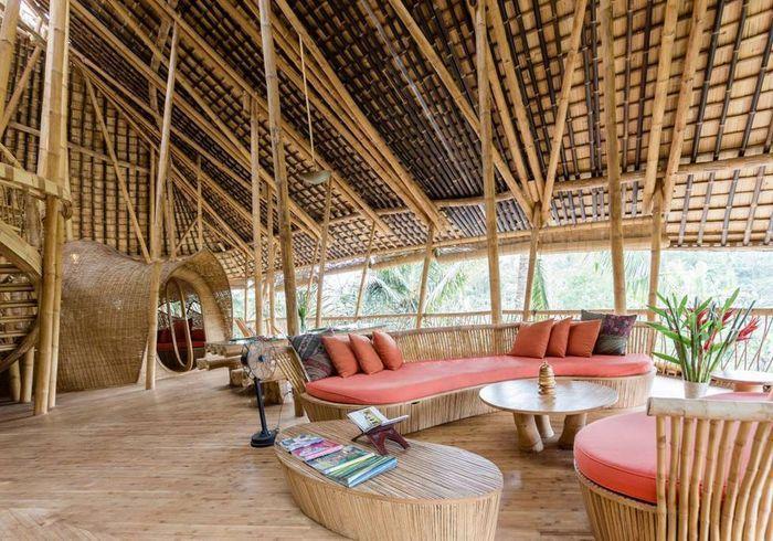 Une maison en bambou à Bali (Indonésie)
